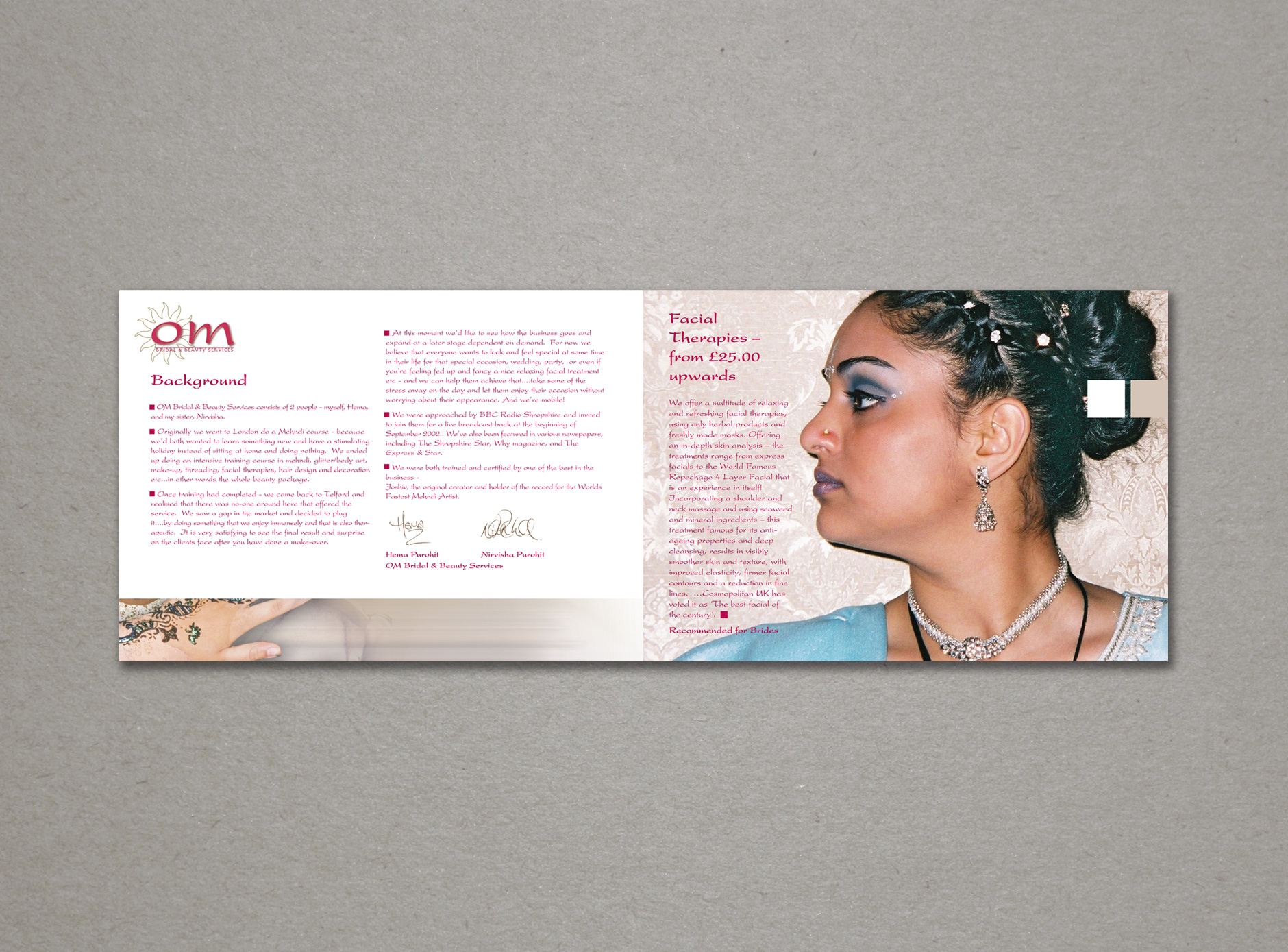 OM Bridal & Beauty design for print
