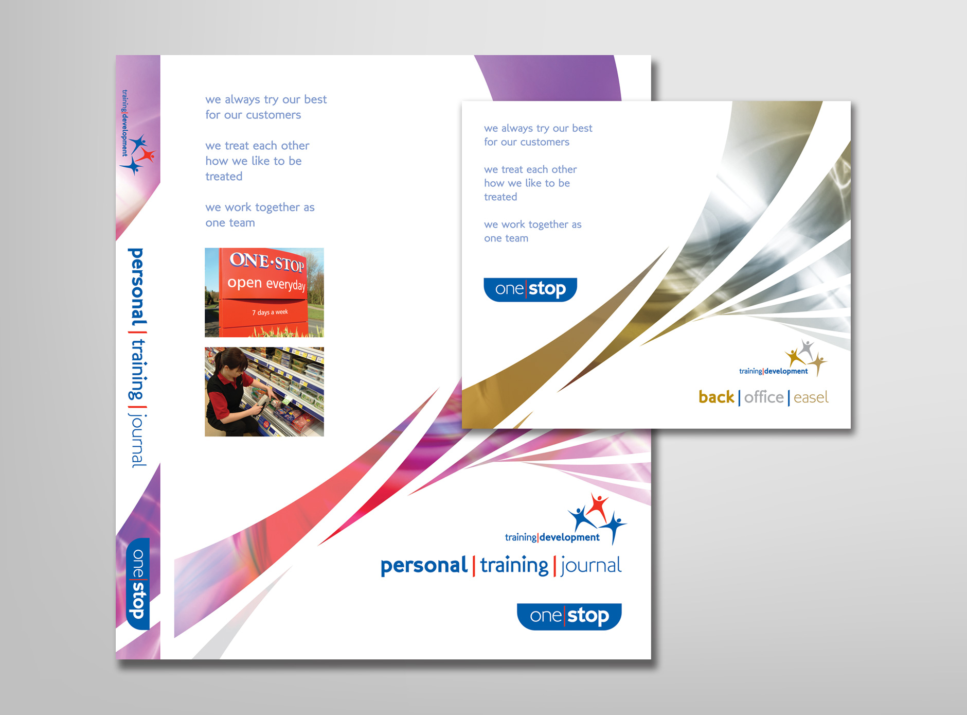 One Stop Training design for print