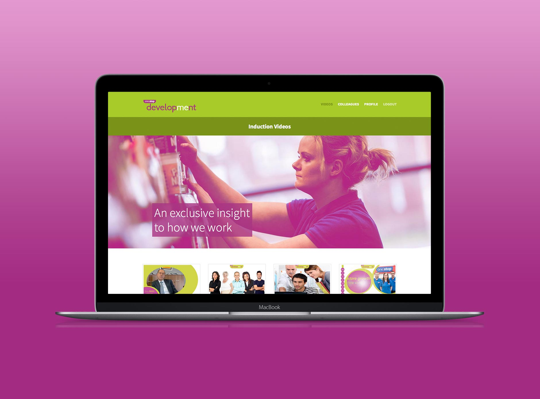 One Stop Digital Induction website