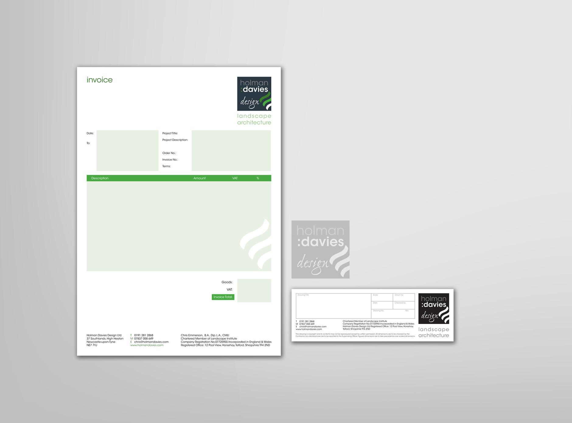 Holman Davies Design identity