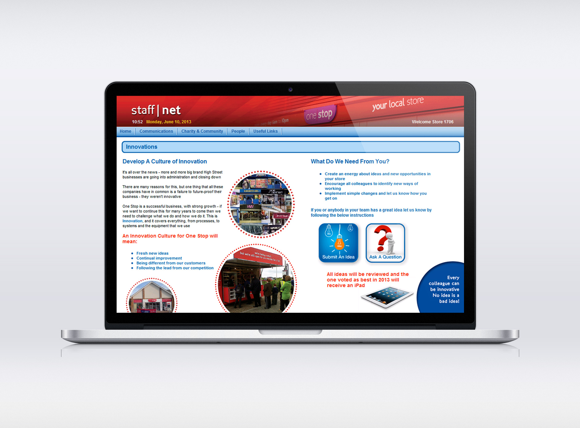 One Stop intranet