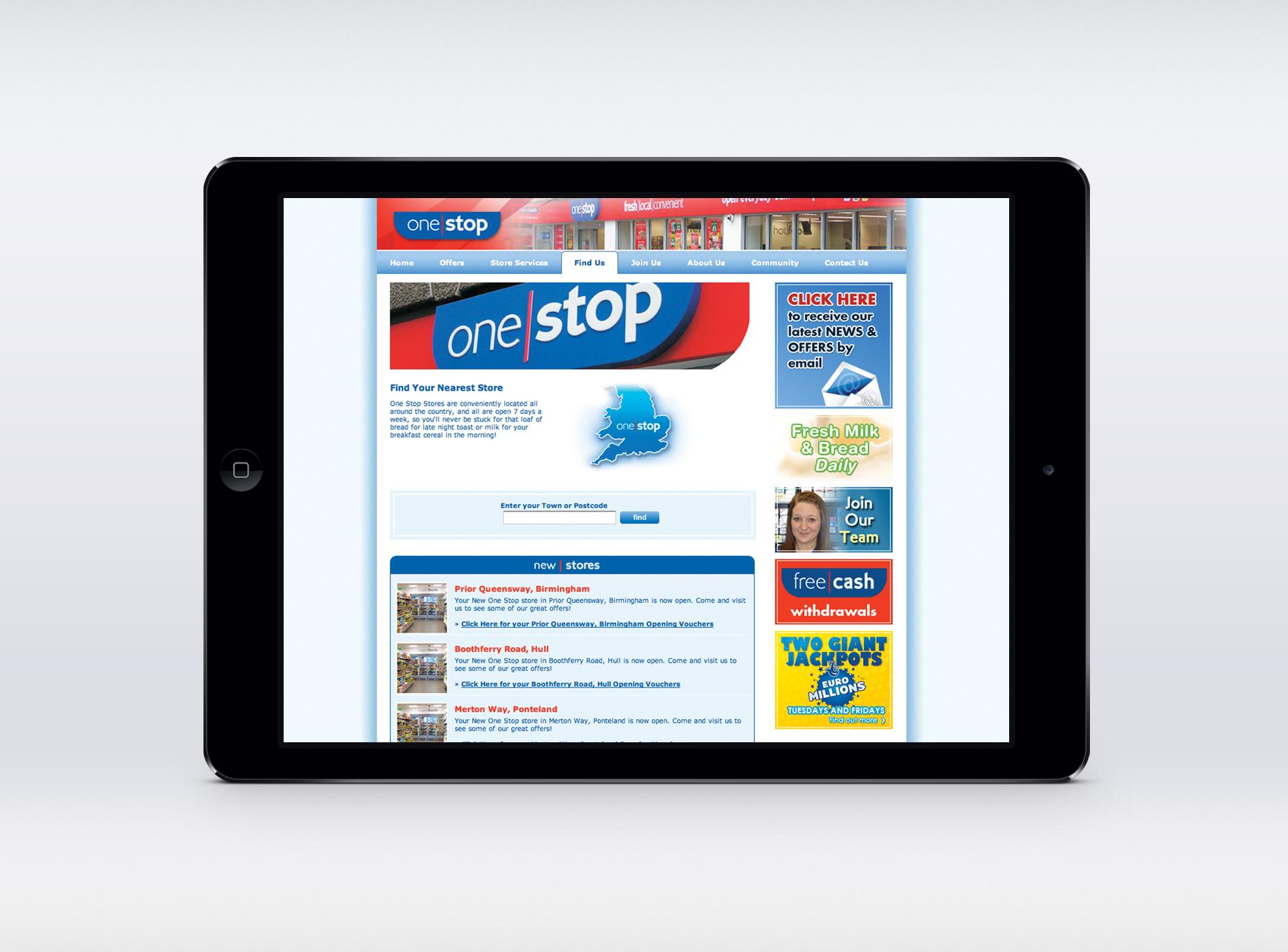 One Stop website