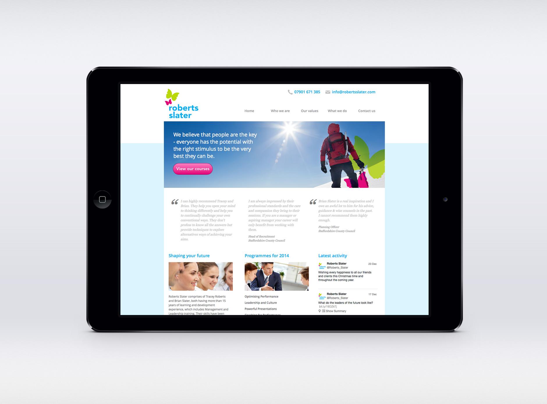 Roberts Slater website