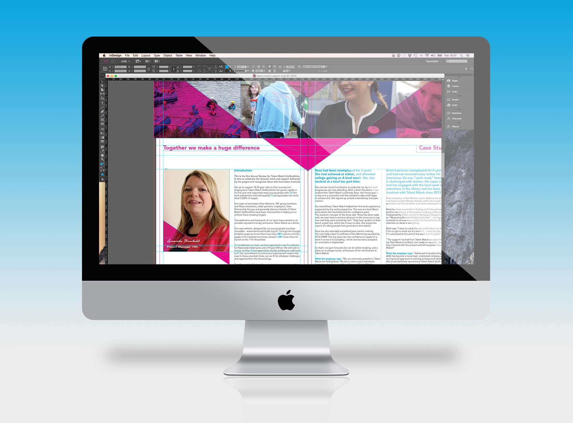 Talent Match design for print